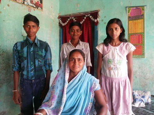Sushila Devi and her three children