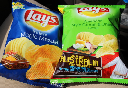 two bags of lays chips